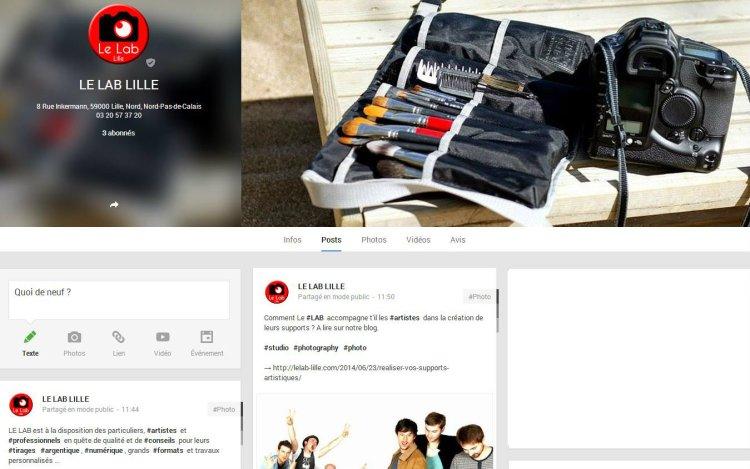 Le Lab Lille Google +