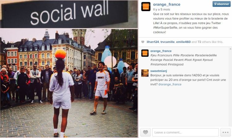 orange instagram braderie de lille