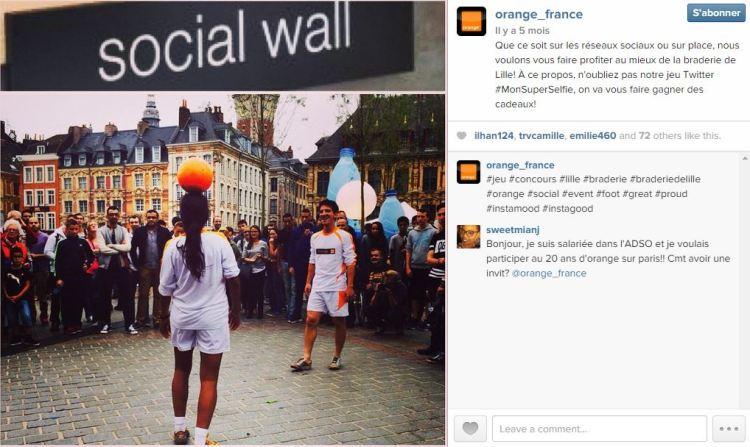 orange instagram braderie de lille
