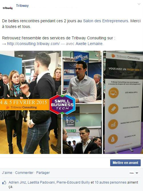 Tribway Facebook small business tech axelle lemaire