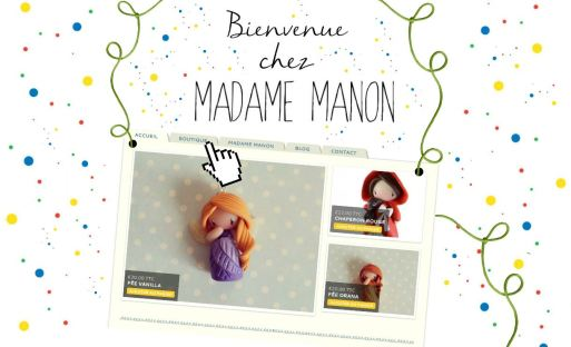site madame manon créatrice bijoux fimo diy boxsons