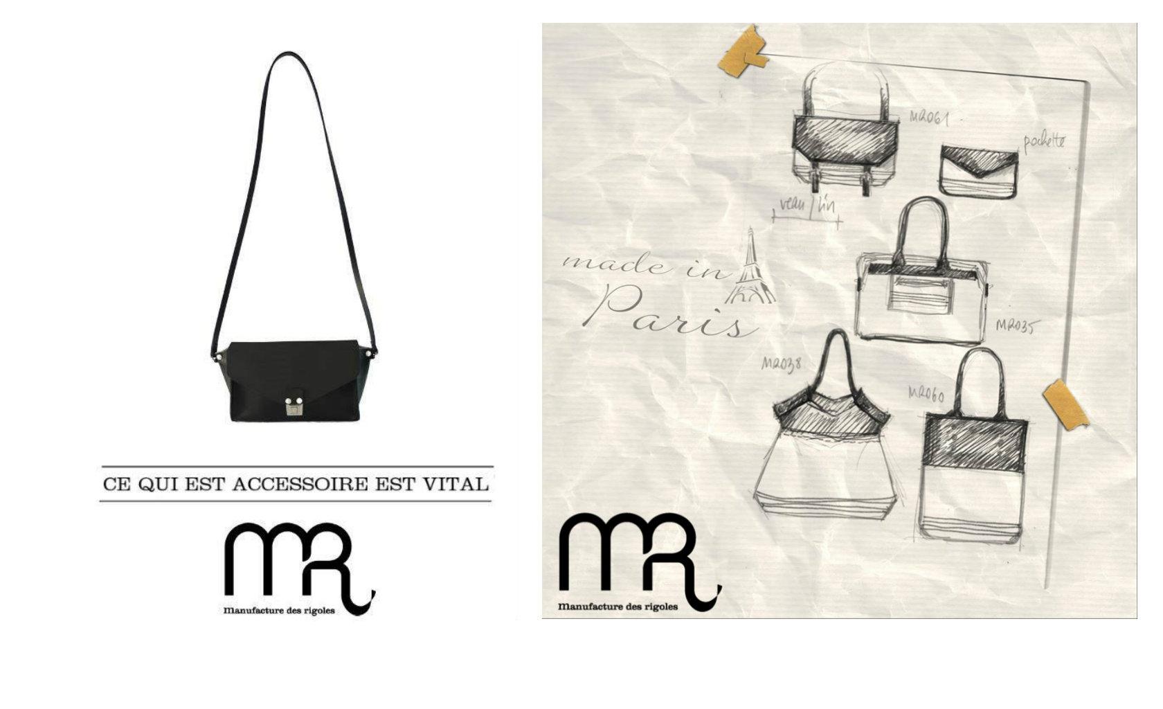 manufacture des rigoles sac bag cuir made in france