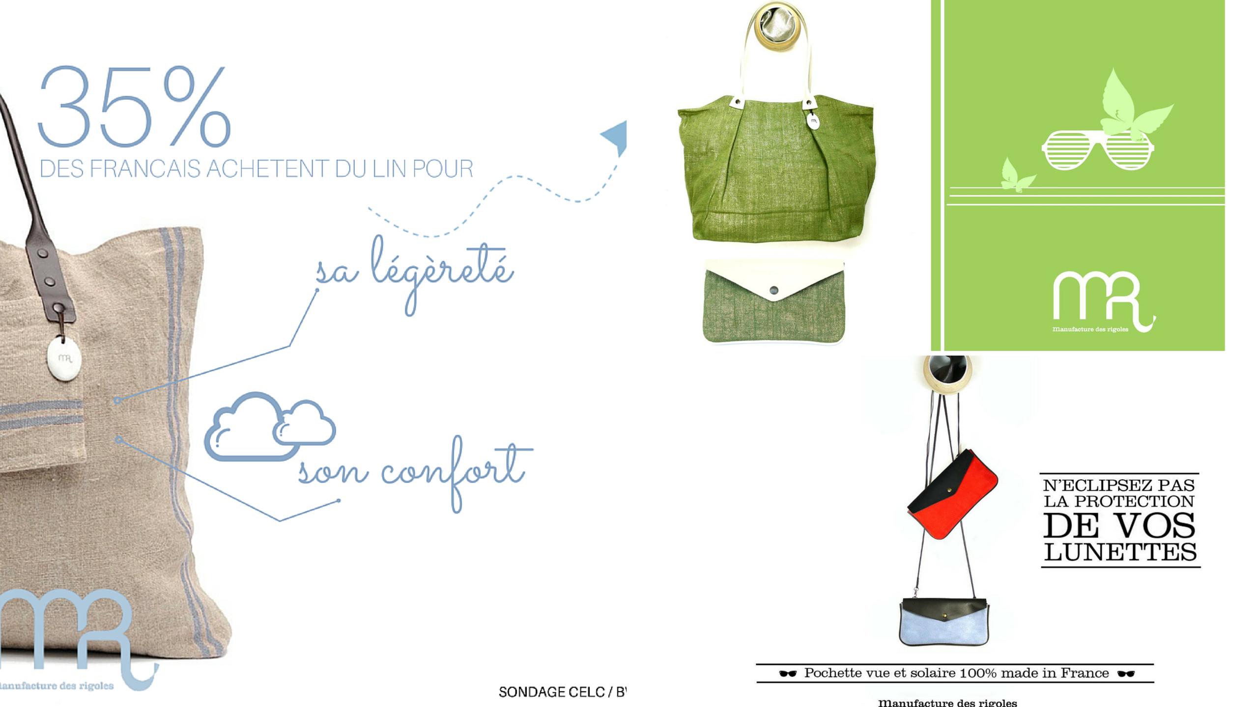 manufacture des rigoles visuels sacs bag made in france
